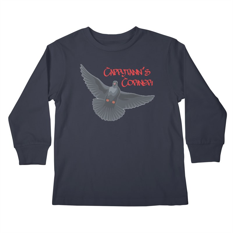 Free Bird CC Red Kids Longsleeve T-Shirt by Cappytann's Artist Shop