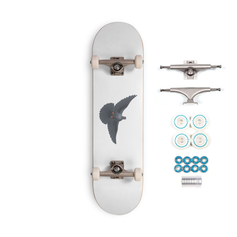 Free Bird White Accessories Skateboard by Cappytann's Artist Shop
