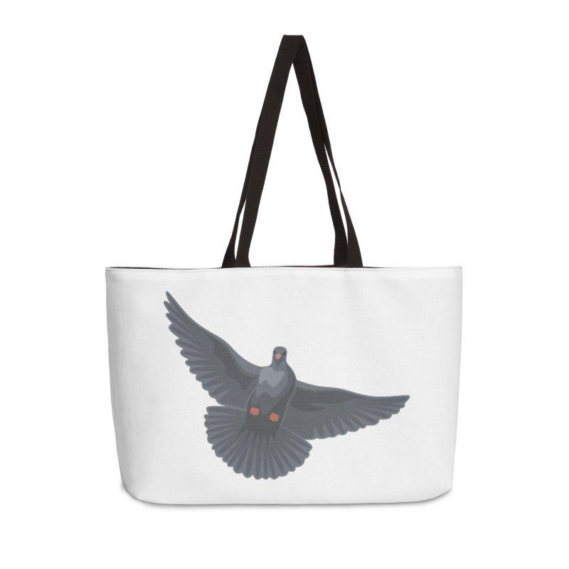 Free Bird White Accessories Bag by Cappytann's Artist Shop