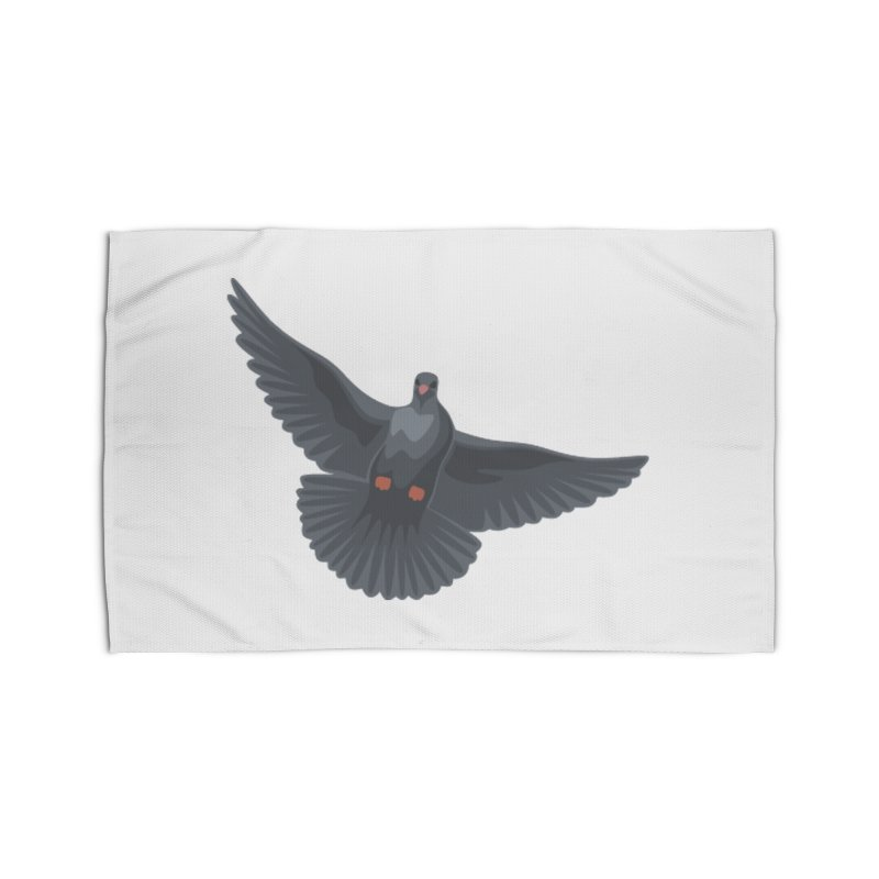 Free Bird White Home Rug by Cappytann's Artist Shop