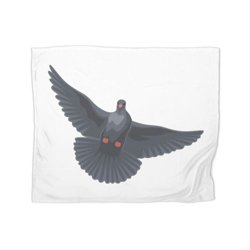 Free Bird White Home Blanket by Cappytann's Artist Shop