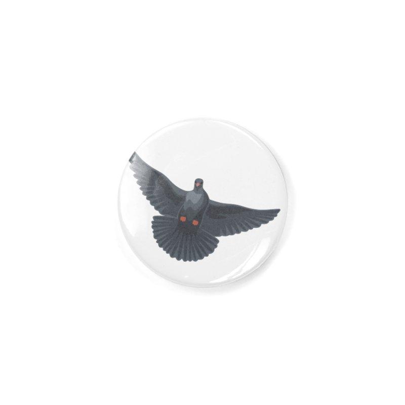 Free Bird White Accessories Button by Cappytann's Artist Shop