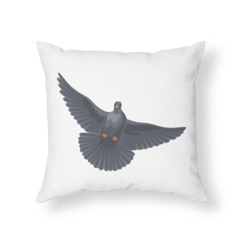 Free Bird White Home Throw Pillow by Cappytann's Artist Shop