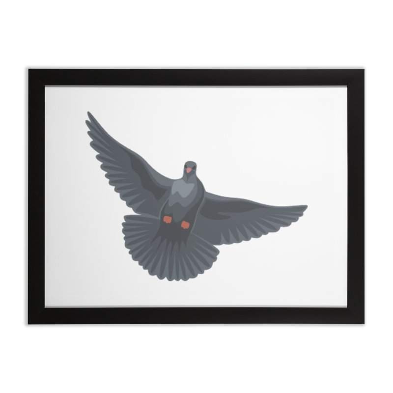 Free Bird White Home Framed Fine Art Print by Cappytann's Artist Shop