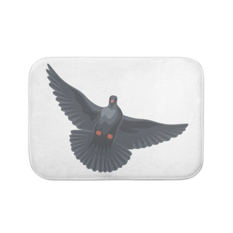 Free Bird White Home Bath Mat by Cappytann's Artist Shop
