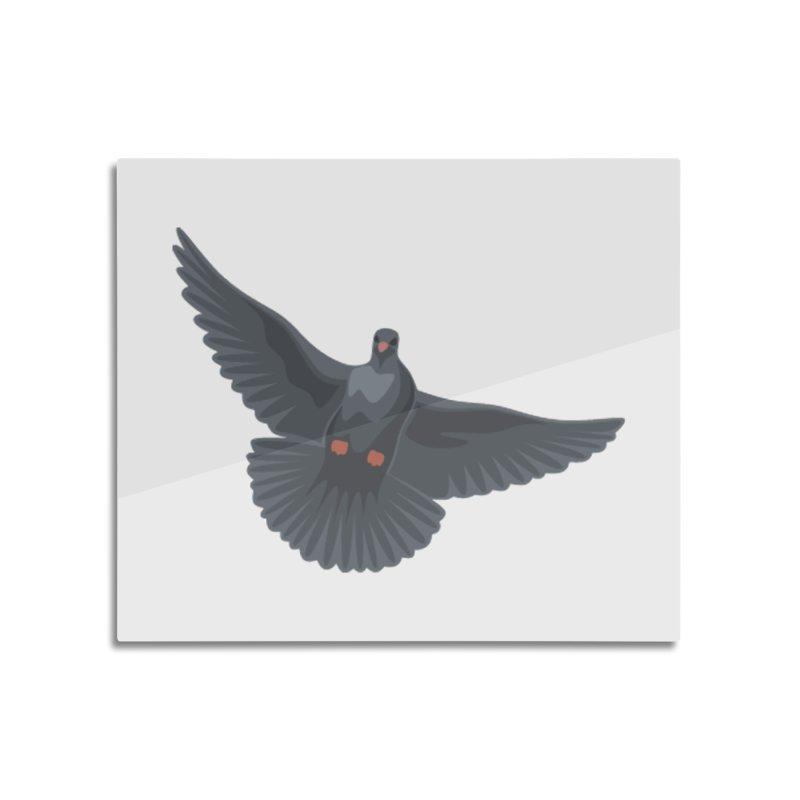 Free Bird White Home Mounted Aluminum Print by Cappytann's Artist Shop