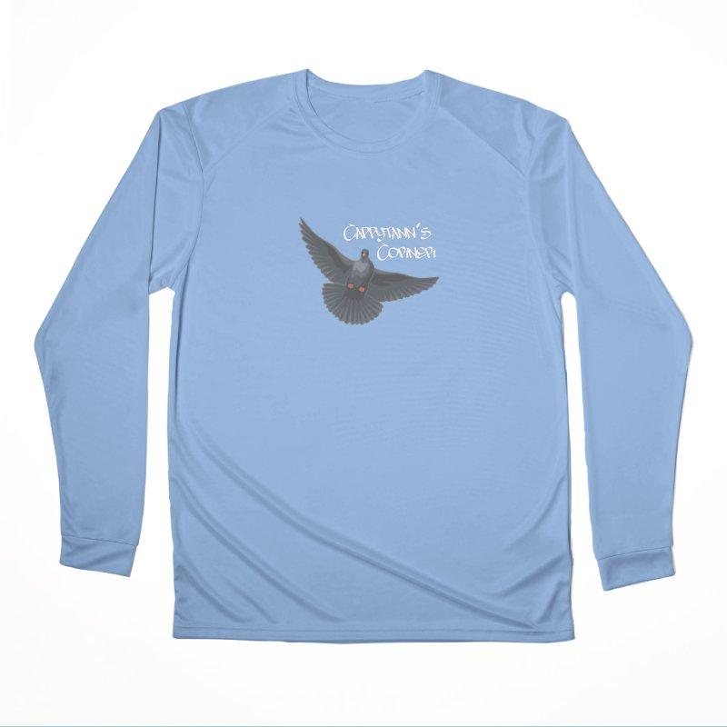 Free Bird White Men's Longsleeve T-Shirt by Cappytann's Artist Shop