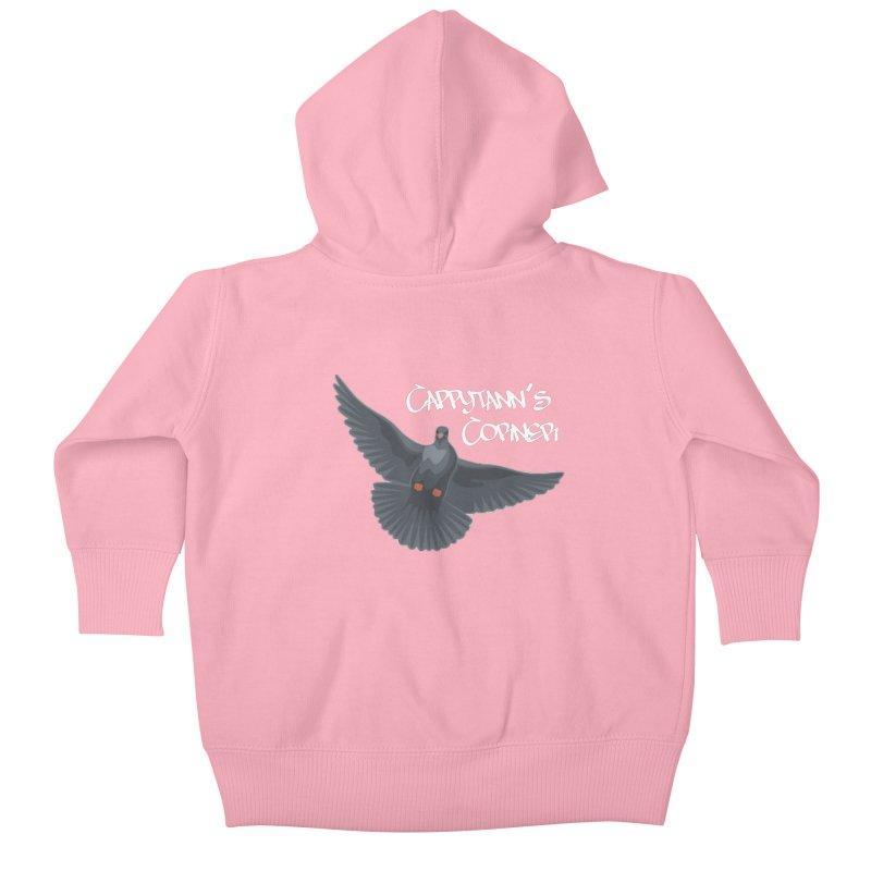 Free Bird White Kids Baby Zip-Up Hoody by Cappytann's Artist Shop
