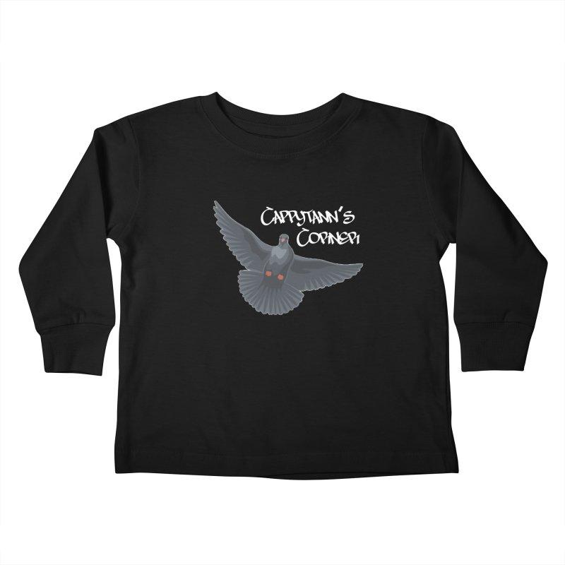 Free Bird White Kids Toddler Longsleeve T-Shirt by Cappytann's Artist Shop