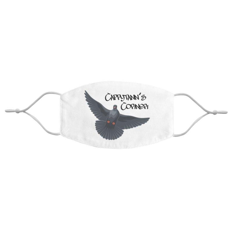 Free Bird Black Accessories Face Mask by Cappytann's Artist Shop