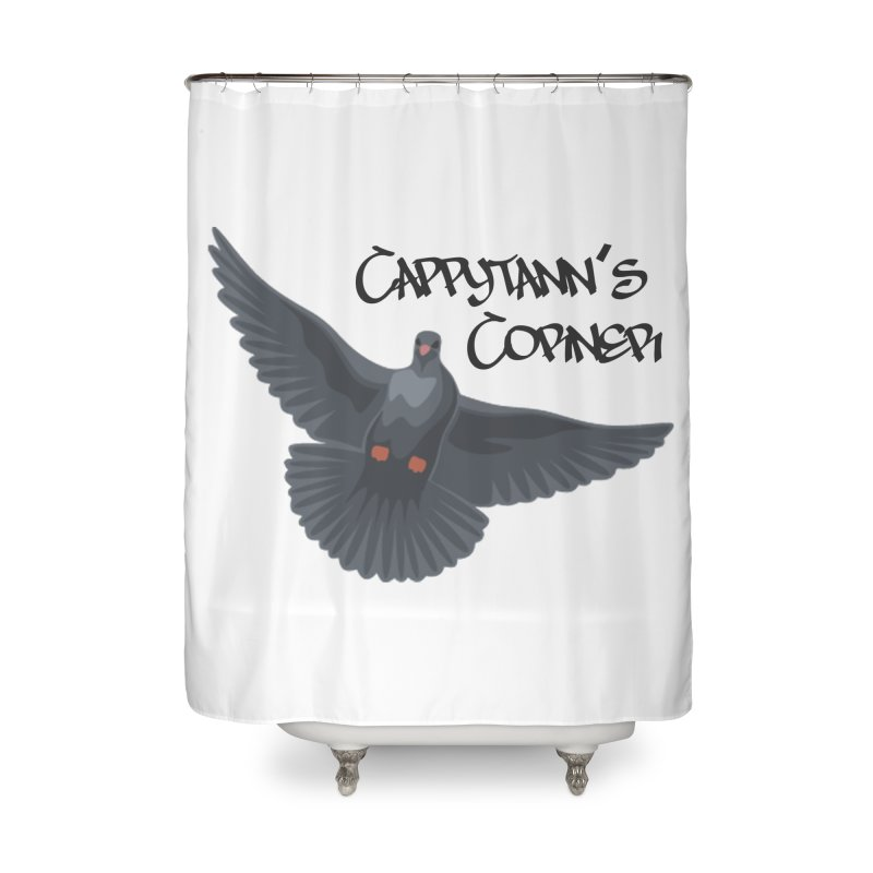 Free Bird Black Home Shower Curtain by Cappytann's Artist Shop