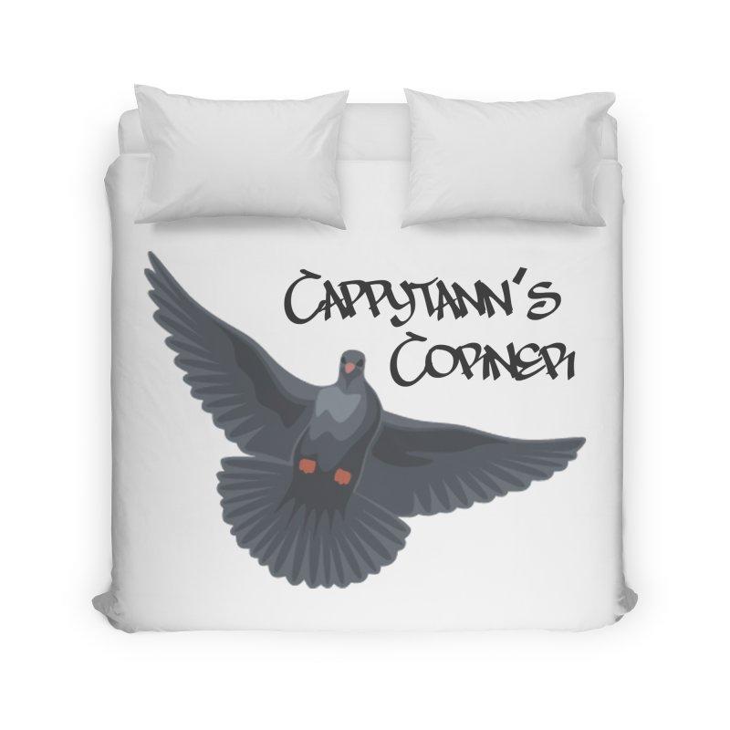 Free Bird Black Home Duvet by Cappytann's Artist Shop