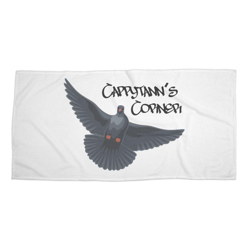 Free Bird Black Accessories Beach Towel by Cappytann's Artist Shop