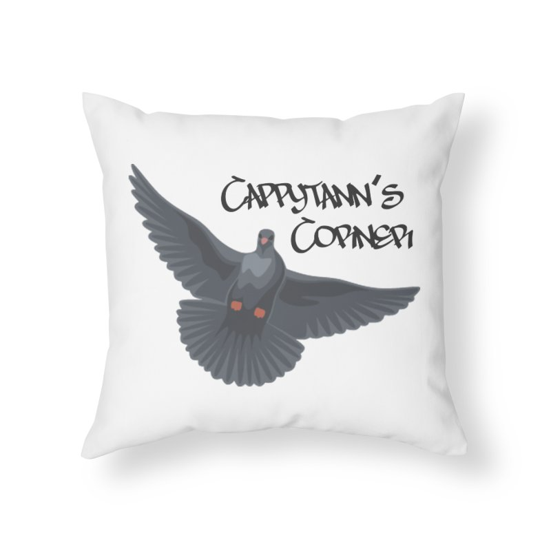 Free Bird Black Home Throw Pillow by Cappytann's Artist Shop