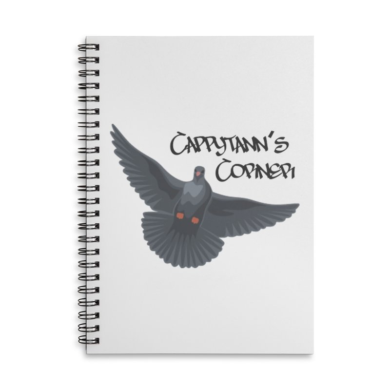 Free Bird Black Accessories Notebook by Cappytann's Artist Shop