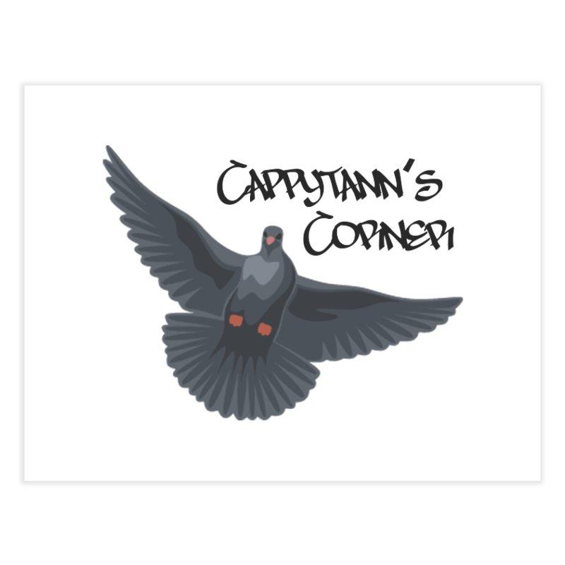 Free Bird Black Home Fine Art Print by Cappytann's Artist Shop