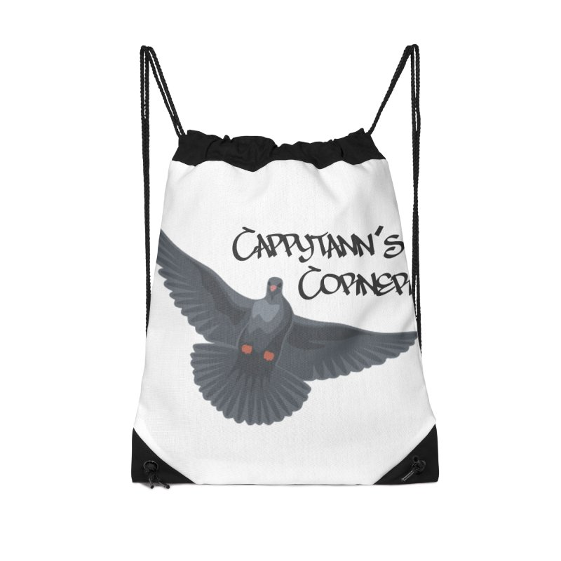 Free Bird Black Accessories Bag by Cappytann's Artist Shop