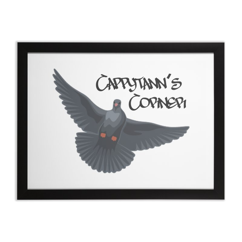 Free Bird Black Home Framed Fine Art Print by Cappytann's Artist Shop
