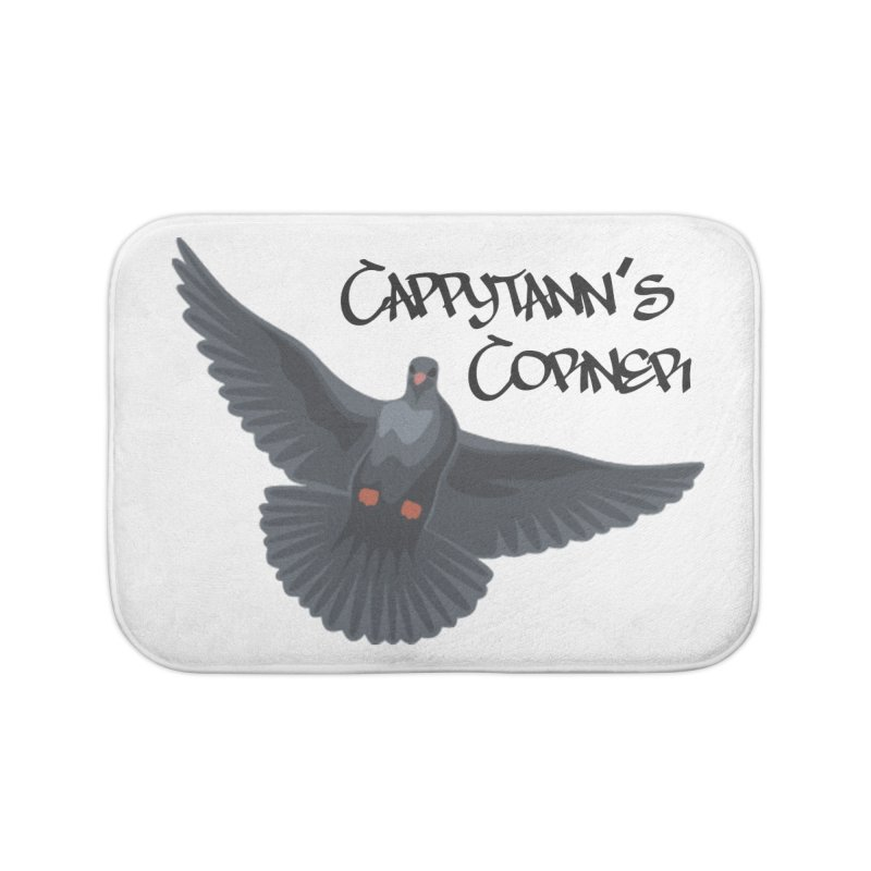 Free Bird Black Home Bath Mat by Cappytann's Artist Shop