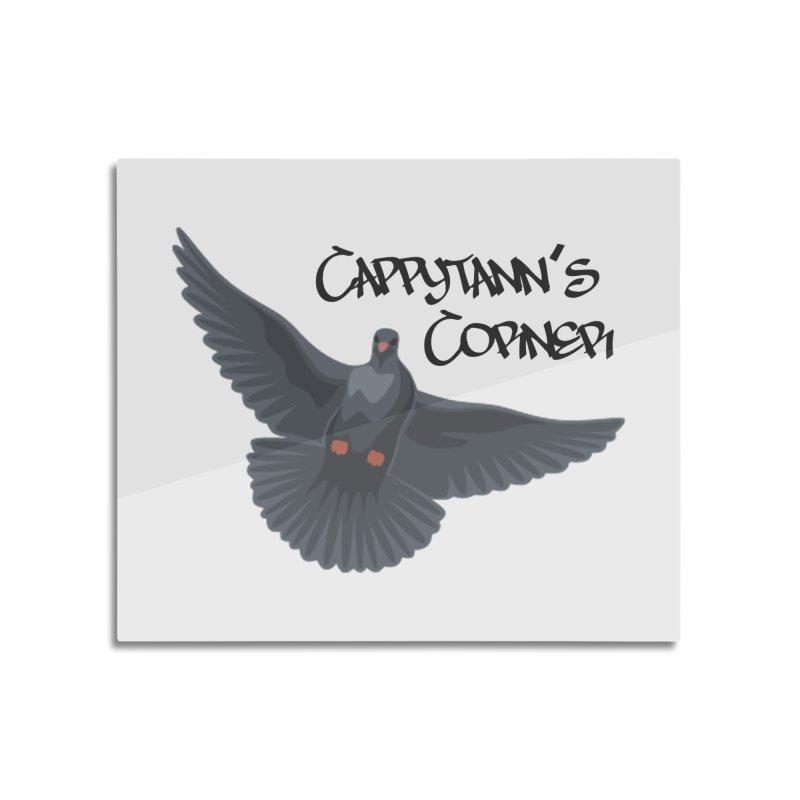 Free Bird Black Home Mounted Aluminum Print by Cappytann's Artist Shop