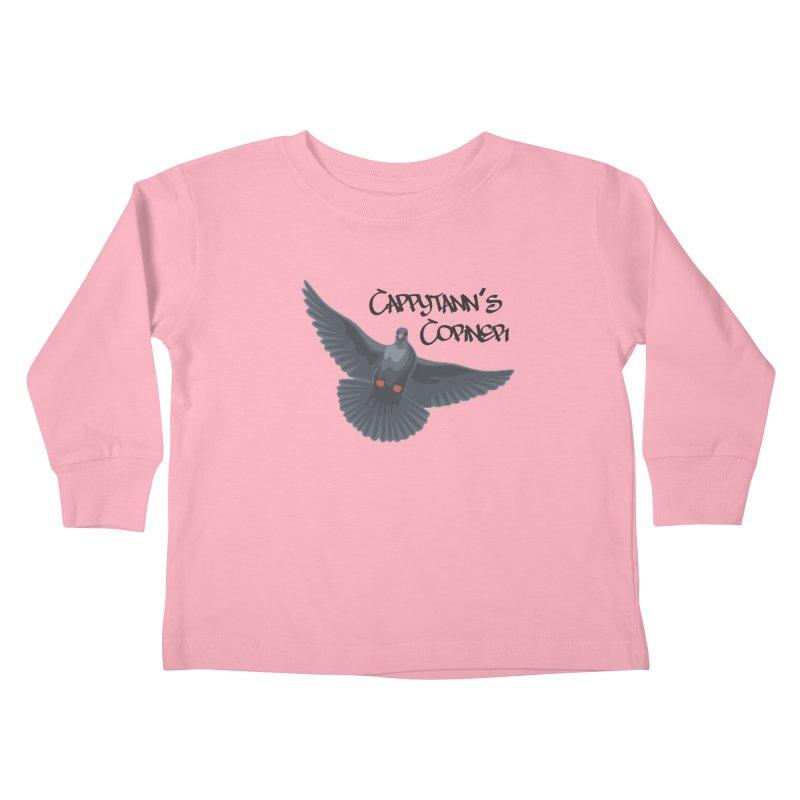 Free Bird Black Kids Toddler Longsleeve T-Shirt by Cappytann's Artist Shop
