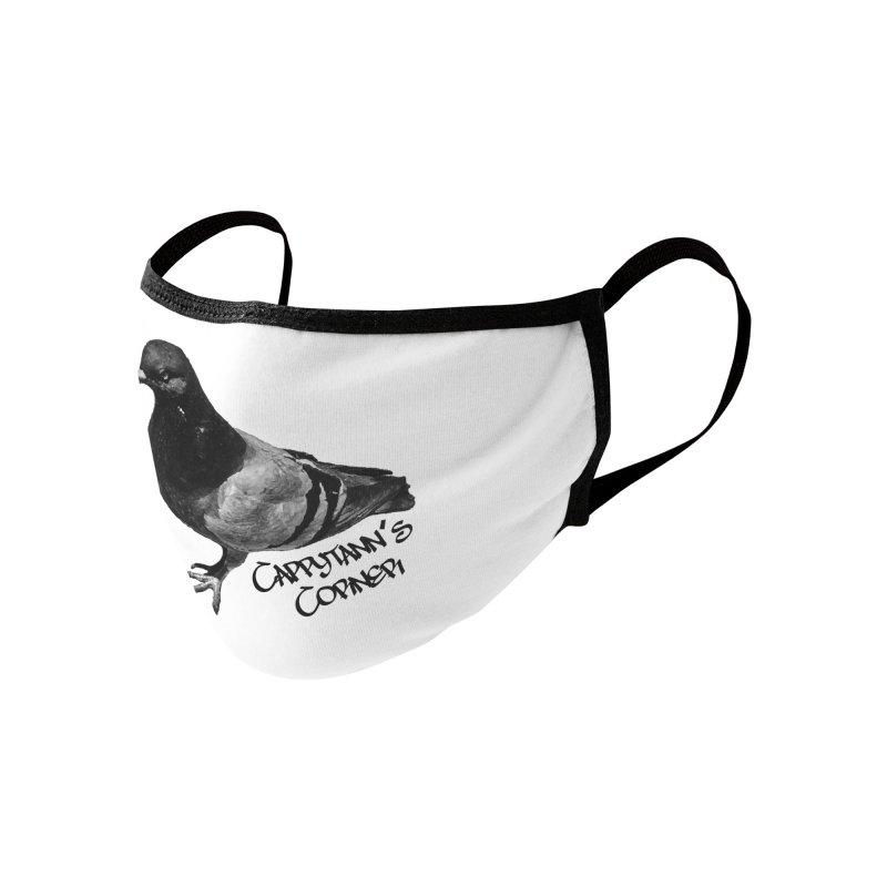 Concrete Pigeon Black Accessories Face Mask by Cappytann's Artist Shop