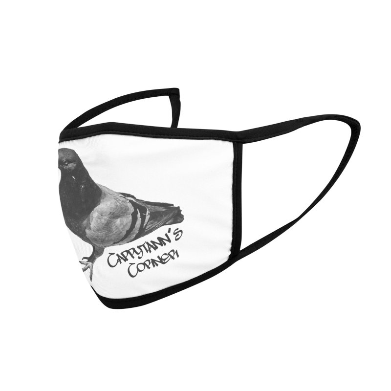 Concrete Pigeon Black Accessories Face Mask by Cappytann's Artist Shop
