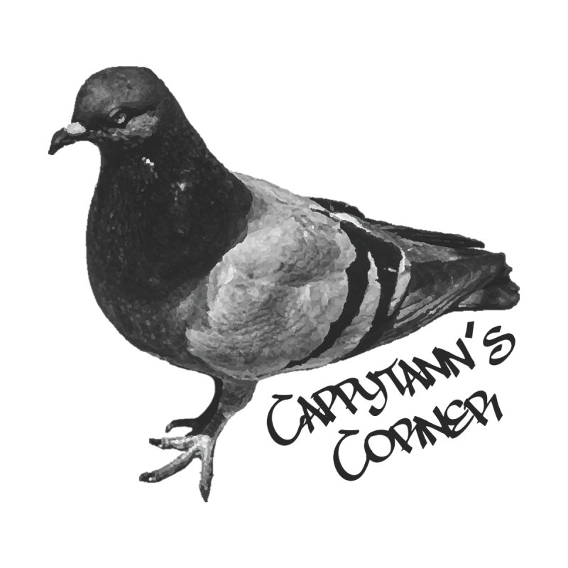 Concrete Pigeon Black Accessories Skateboard by Cappytann's Artist Shop