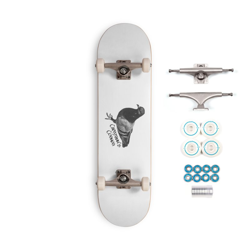 Concrete Pigeon Black Accessories Skateboard by Cappytann's Artist Shop