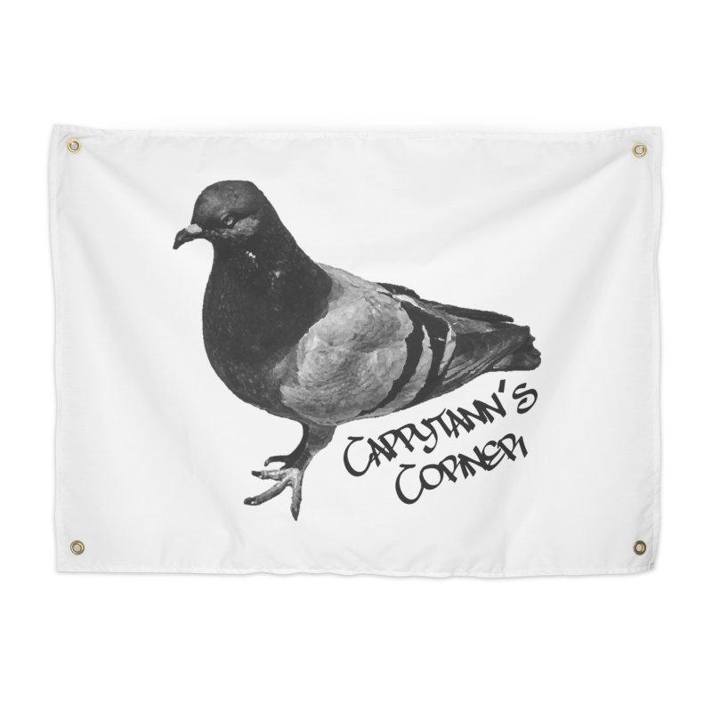 Concrete Pigeon Black Home Tapestry by Cappytann's Artist Shop