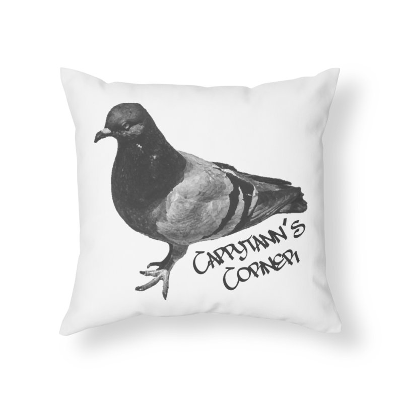 Concrete Pigeon Black Home Throw Pillow by Cappytann's Artist Shop