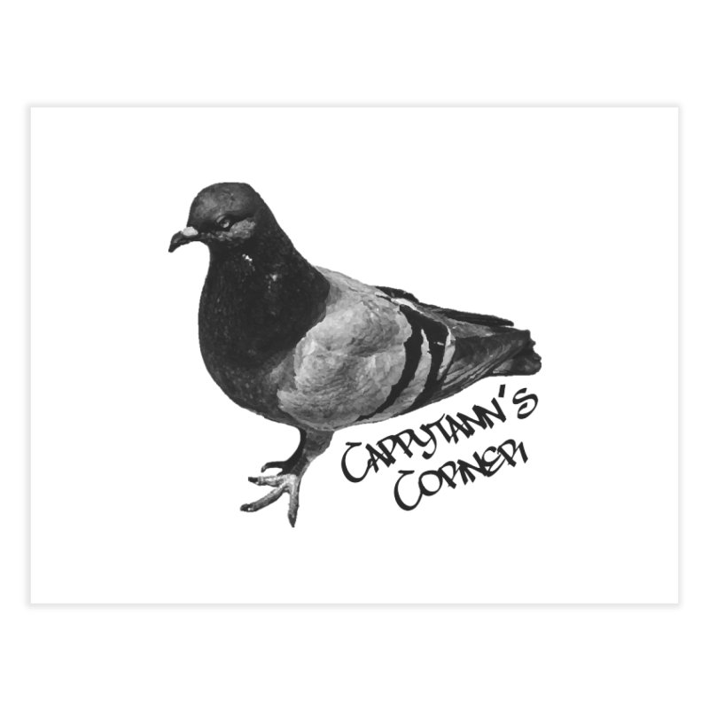 Concrete Pigeon Black Home Fine Art Print by Cappytann's Artist Shop