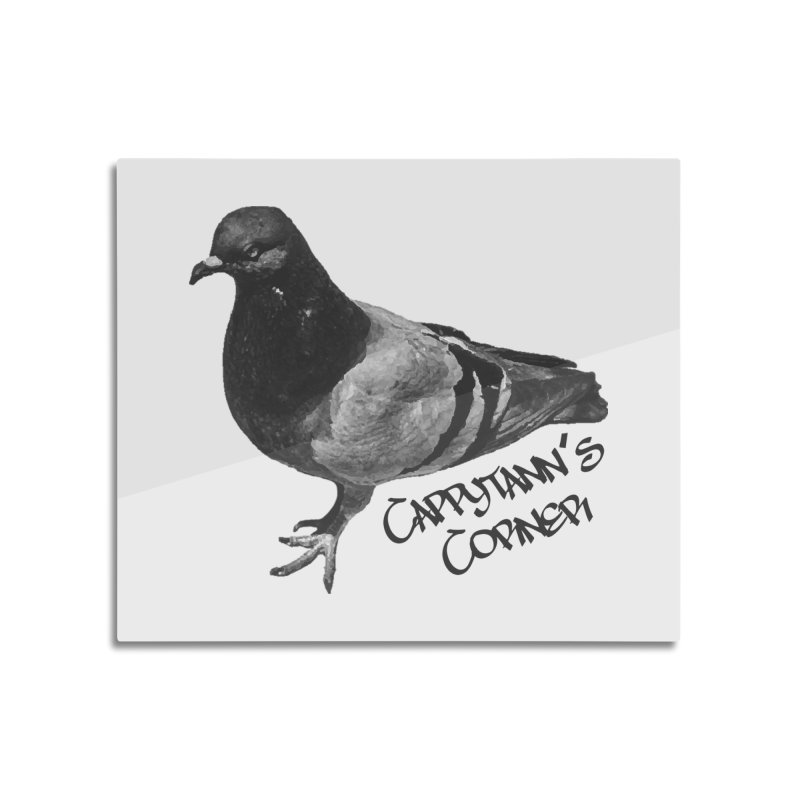 Concrete Pigeon Black Home Mounted Aluminum Print by Cappytann's Artist Shop