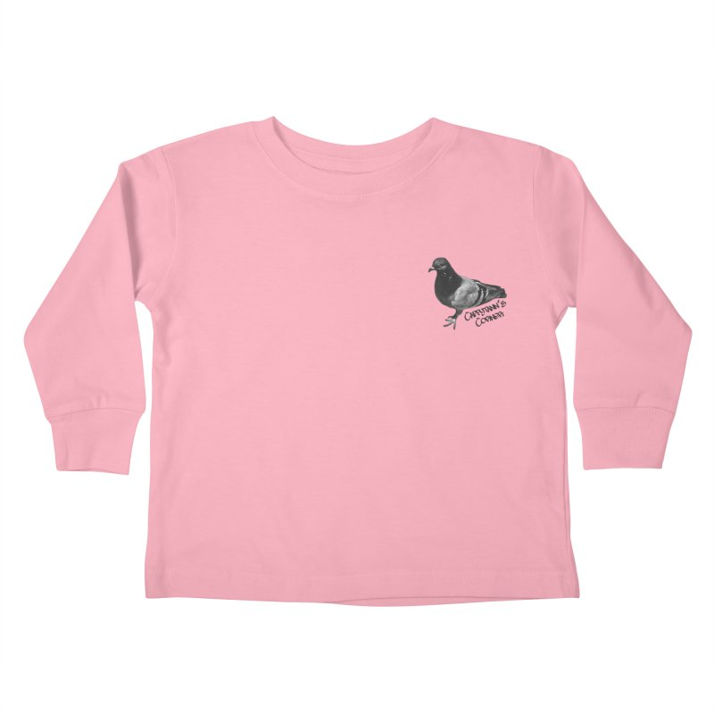 Concrete Pigeon Black Kids Toddler Longsleeve T-Shirt by Cappytann's Artist Shop
