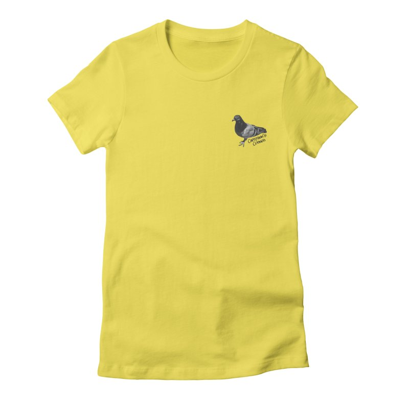Concrete Pigeon Black Women's T-Shirt by Cappytann's Artist Shop