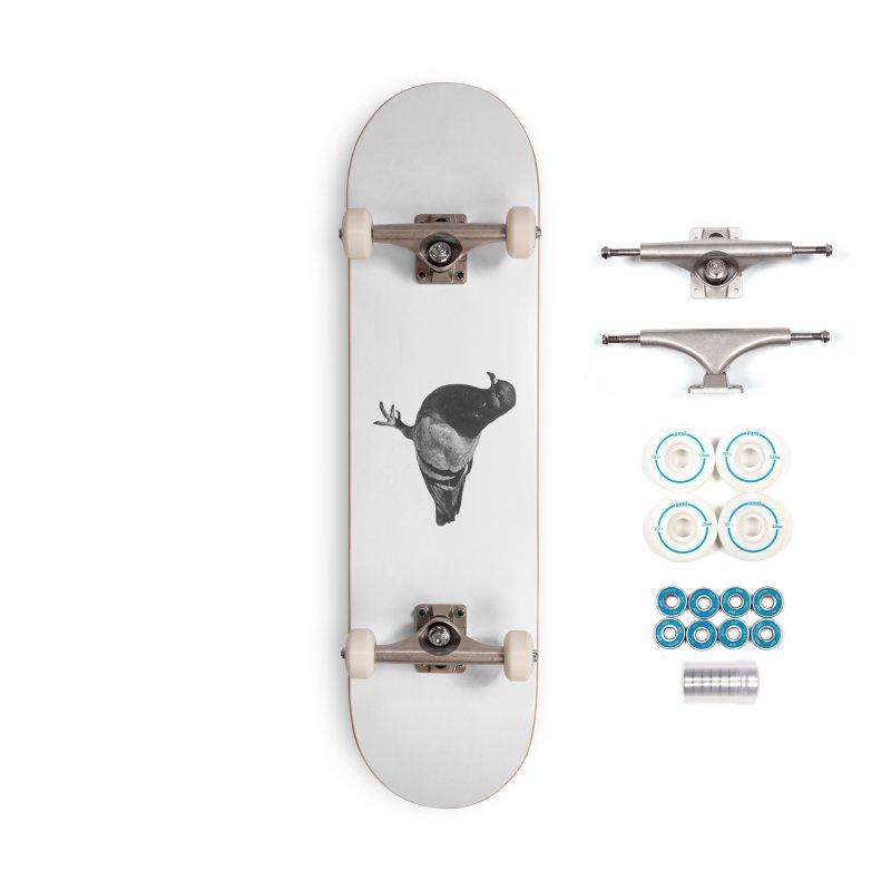 Concrete Pigeon White Accessories Skateboard by Cappytann's Artist Shop
