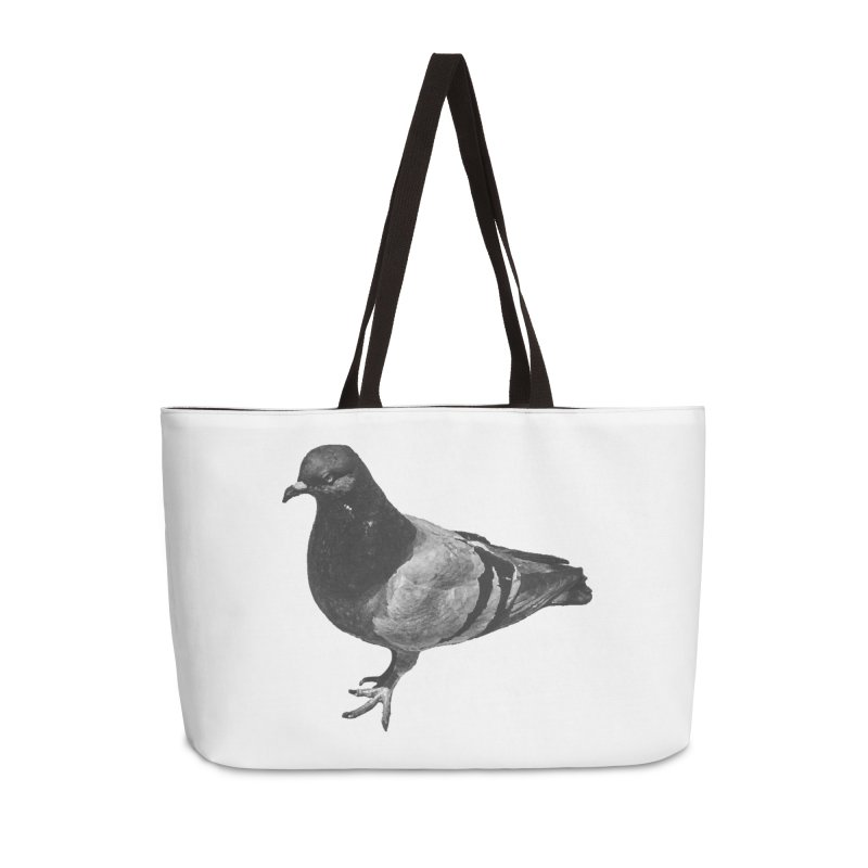 Concrete Pigeon White Accessories Bag by Cappytann's Artist Shop