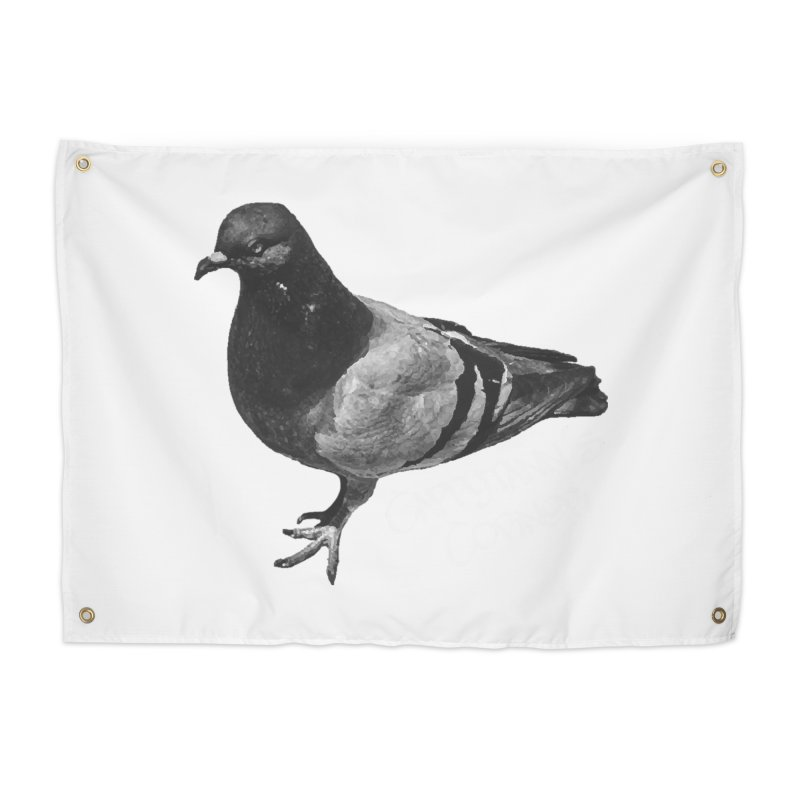 Concrete Pigeon White Home Tapestry by Cappytann's Artist Shop