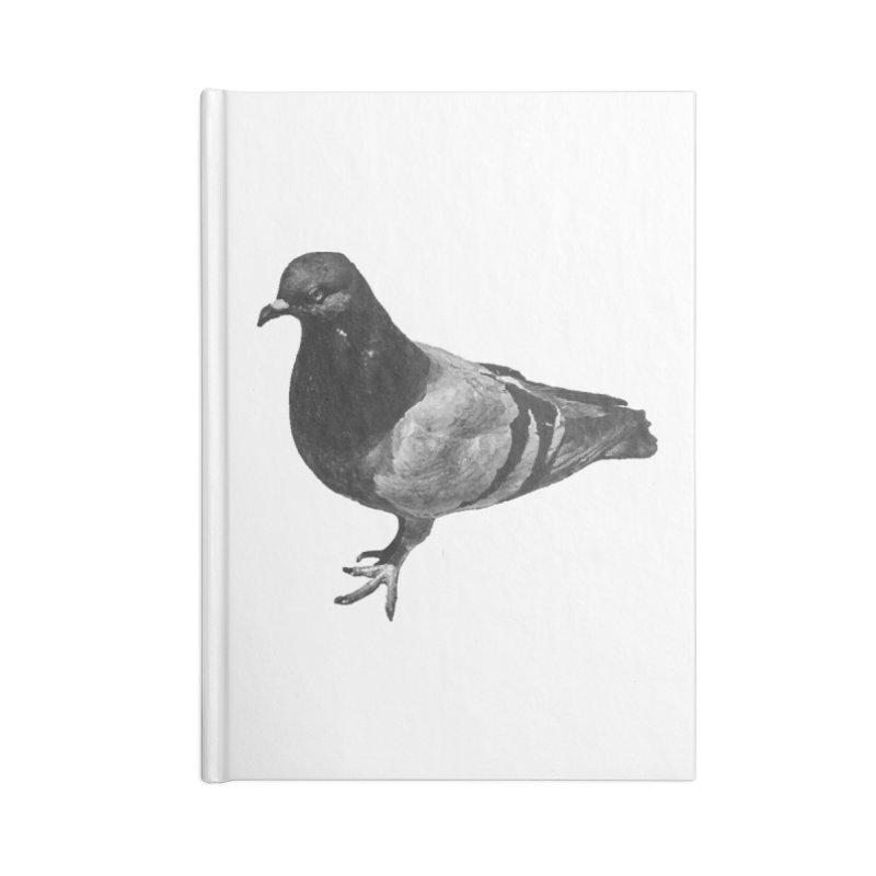 Concrete Pigeon White Accessories Notebook by Cappytann's Artist Shop