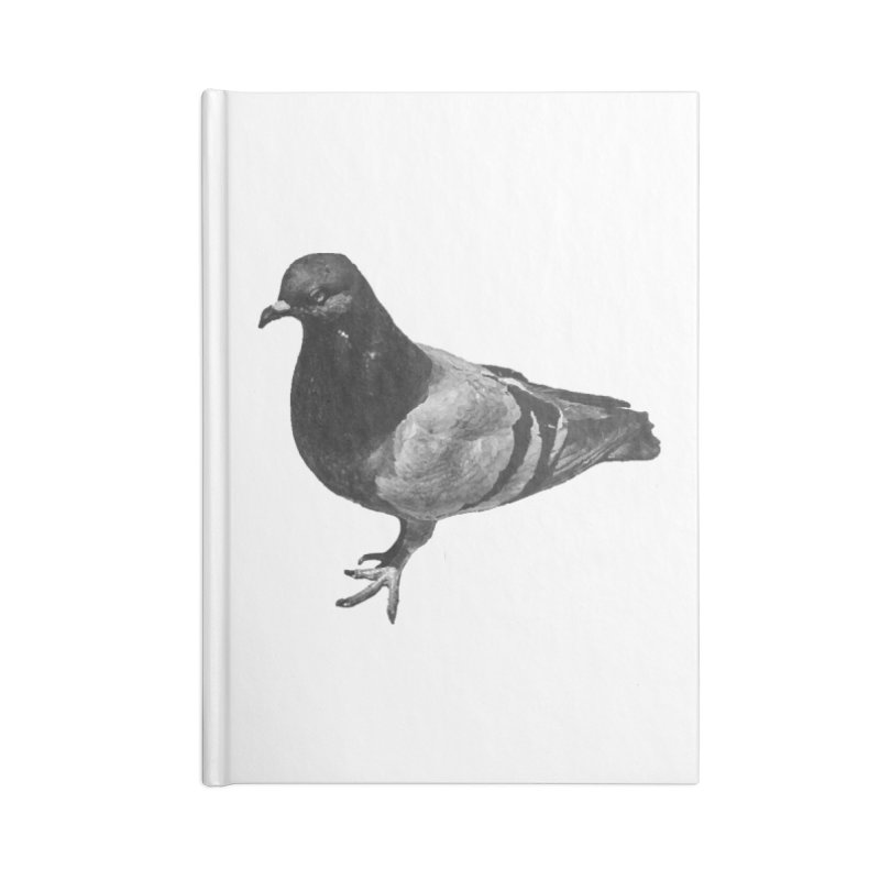 Concrete Pigeon White Accessories Notebook by Cappytann's Artist Shop