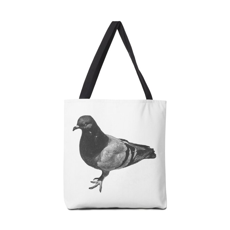 Concrete Pigeon White Accessories Bag by Cappytann's Artist Shop