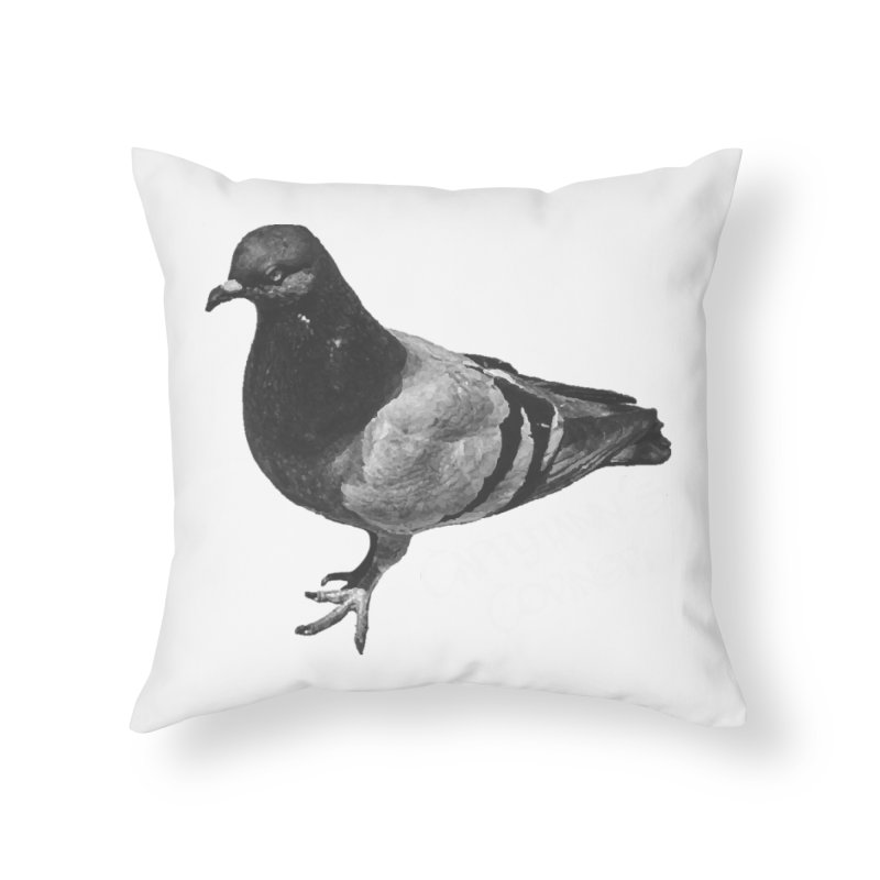 Concrete Pigeon White Home Throw Pillow by Cappytann's Artist Shop
