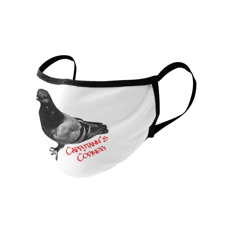 Concrete Pigeon Red Accessories Face Mask by Cappytann's Artist Shop