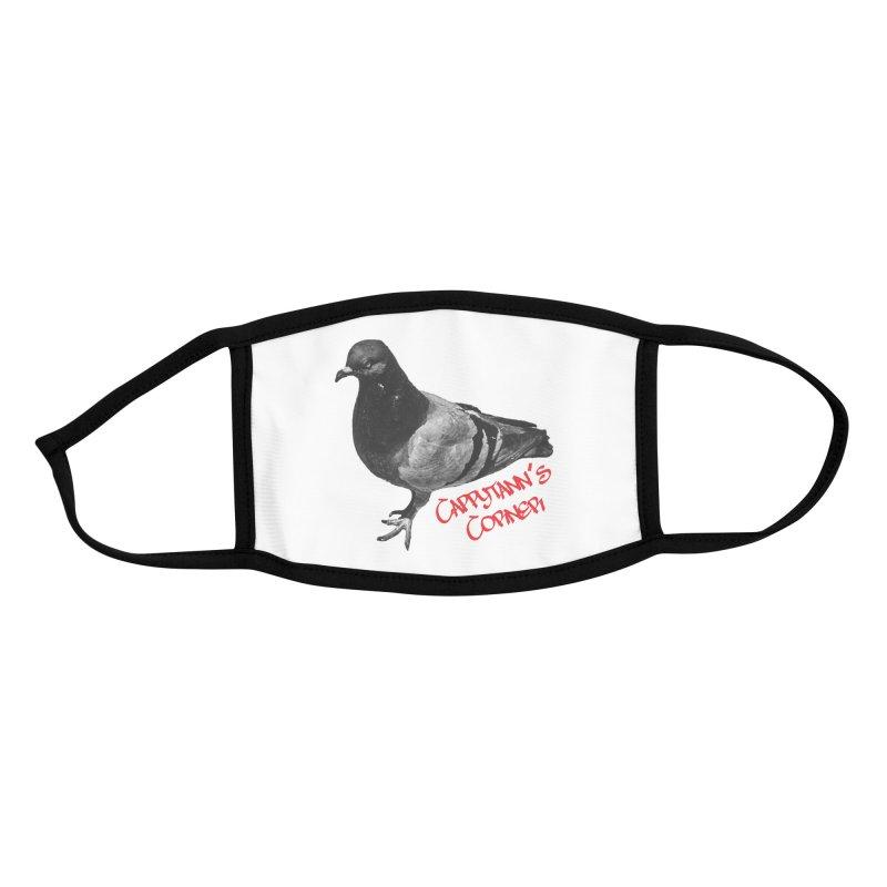 Concrete Pigeon Red Accessories Face Mask by Cappytann's Artist Shop
