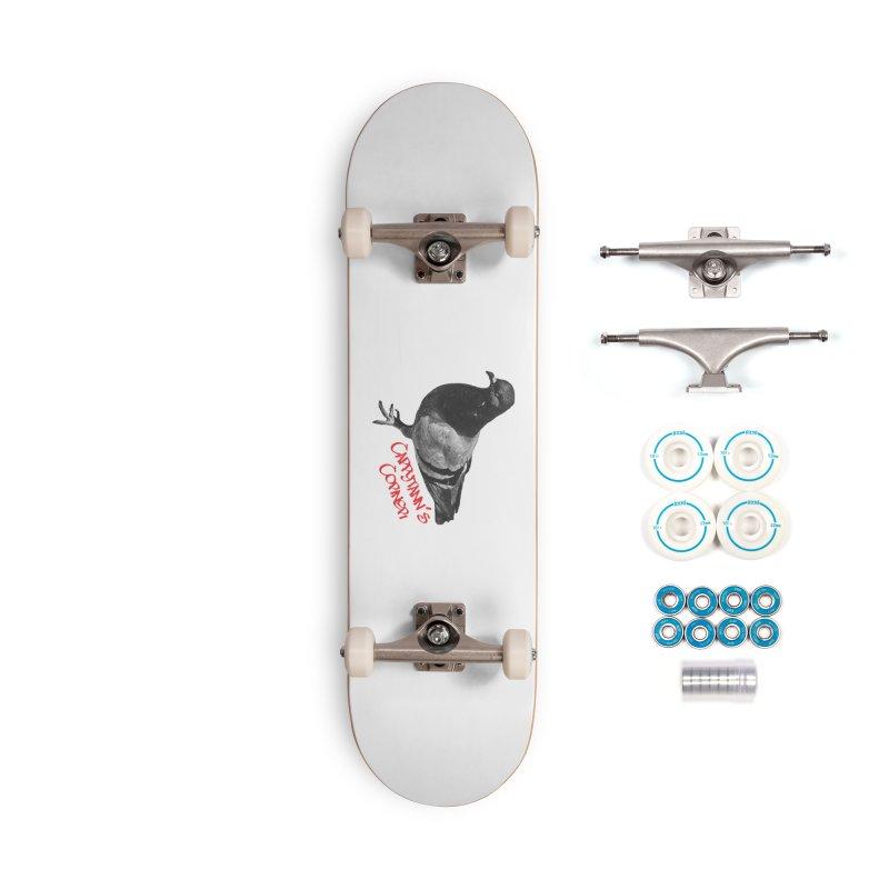 Concrete Pigeon Red Accessories Skateboard by Cappytann's Artist Shop