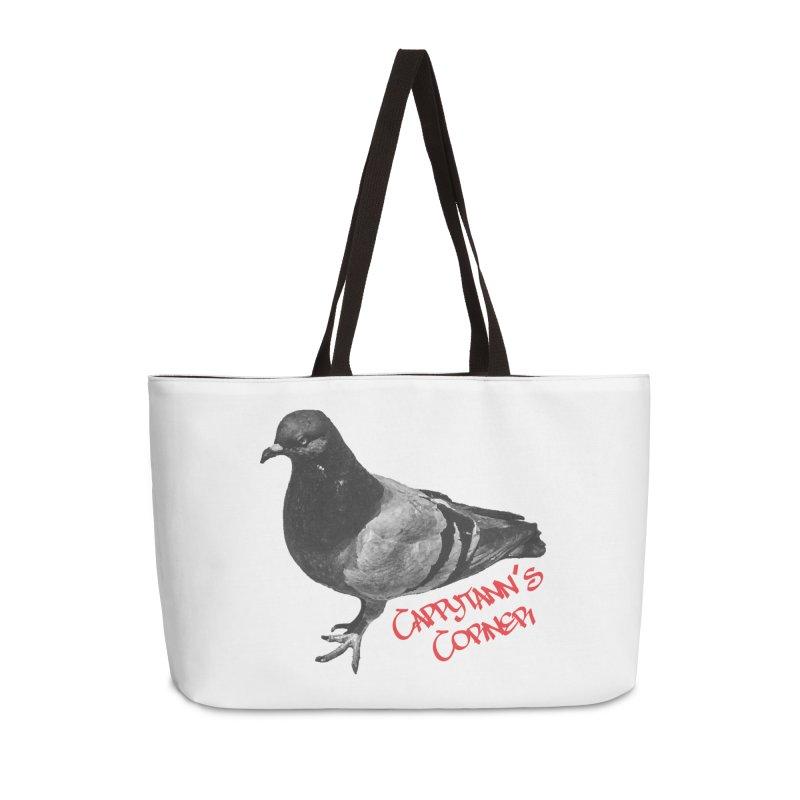 Concrete Pigeon Red Accessories Bag by Cappytann's Artist Shop
