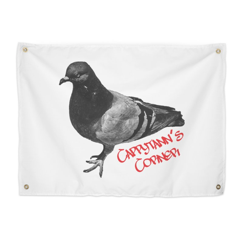 Concrete Pigeon Red Home Tapestry by Cappytann's Artist Shop