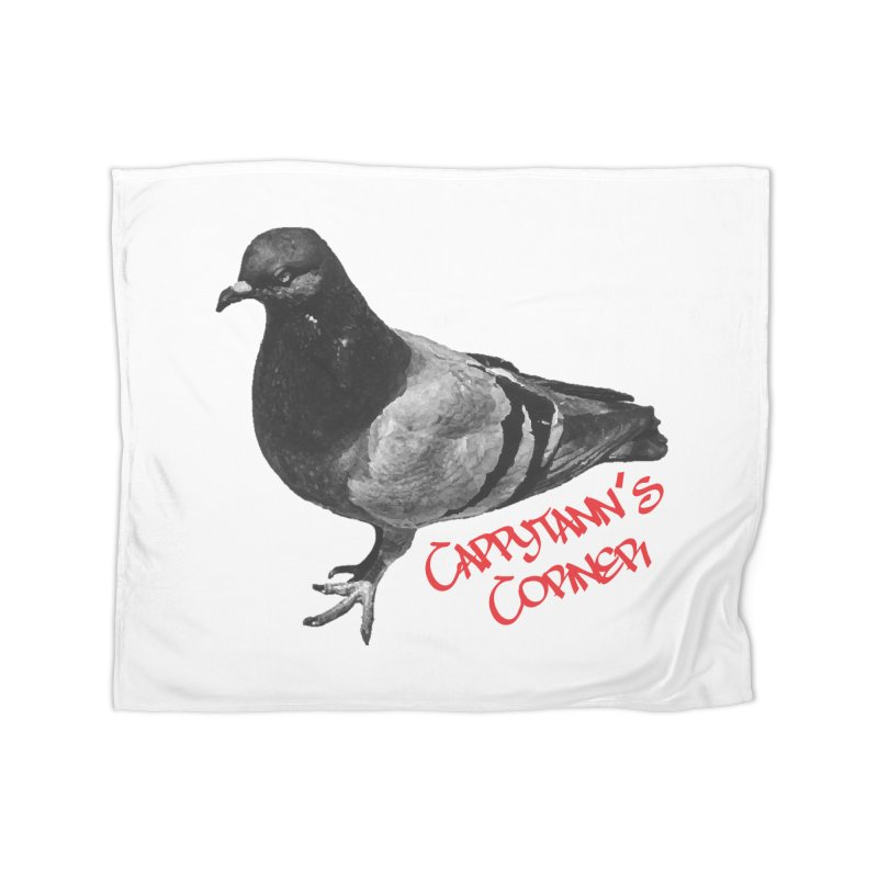 Concrete Pigeon Red Home Blanket by Cappytann's Artist Shop