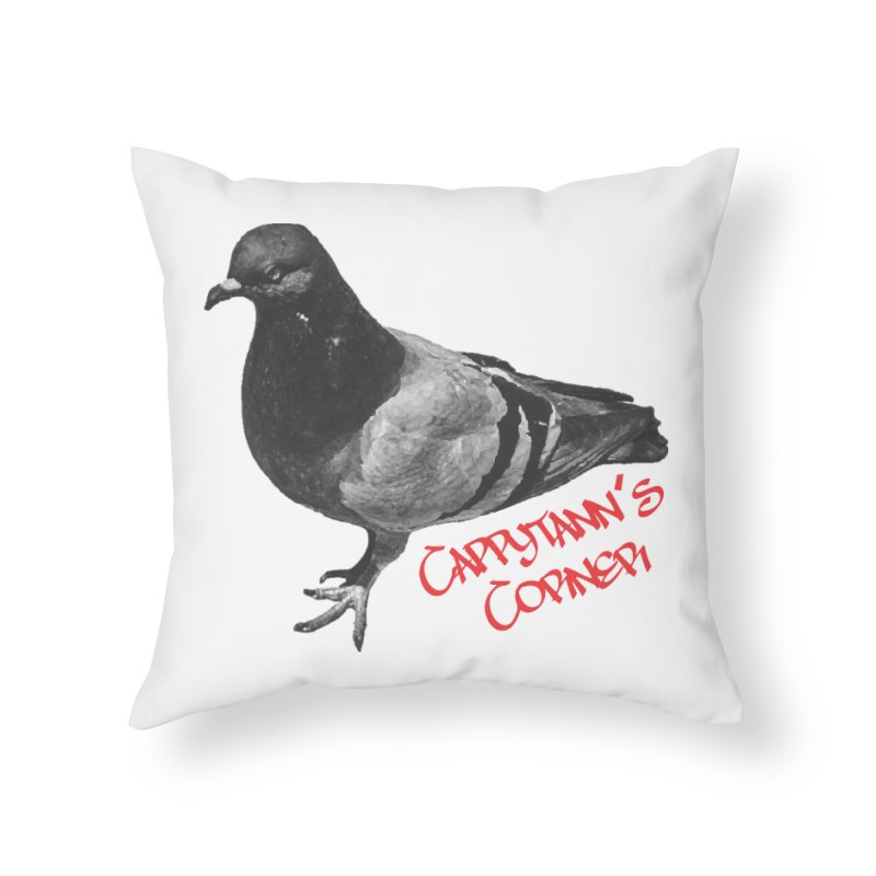 Concrete Pigeon Red Home Throw Pillow by Cappytann's Artist Shop