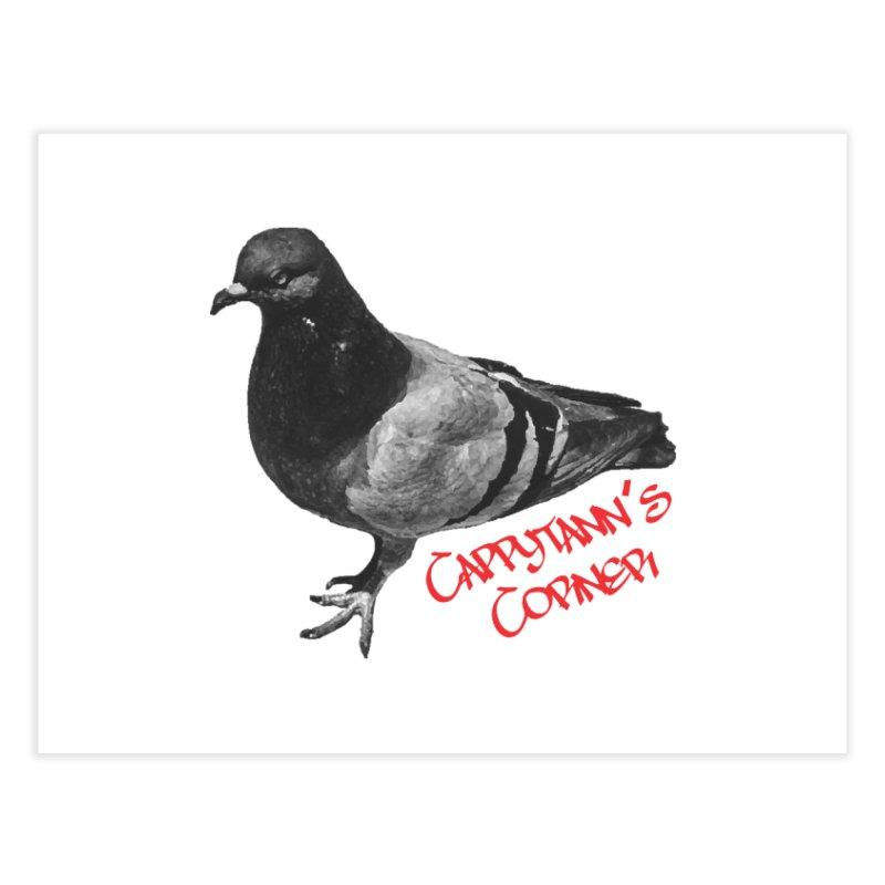 Concrete Pigeon Red Home Fine Art Print by Cappytann's Artist Shop